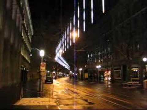 Zürich Weihnachtsbeleuchtung.Weihnachtsbeleuchtung Bahnhofstrasse Zürich 2005 Lang