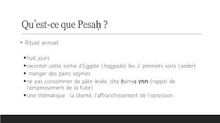 De quoi Pessah est-il le nom ?  Rites et étymologie (1/8)