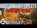 HUGE UPDATE BEST BITS - BF5 January 2019 (Lightning Strikes Key Patch Notes Details) - Battlefield 5