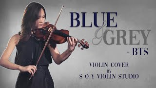 BLUE & GREY - BTS (Violin Cover With Sheet Music And Tab)