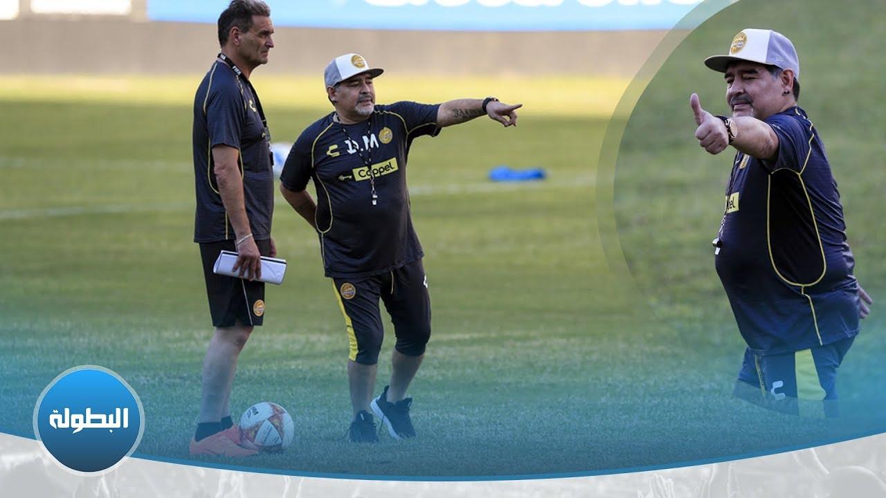 مارادونا يعاني مشكلة خطيرة في ركبته تجعله يتحرك بصعوبة ويحتاج لأطراف اصطناعية