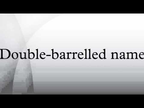 Double-barrelled Name
