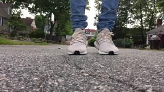 adidas ultra boost cream on feet