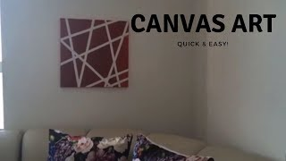 DIY - Canvas Art Made With Washi Tape! | Diy All The Way