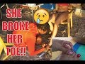 SHE BROKE HER TOE AT THE WATER PARK!!!! (MUST WATCH)