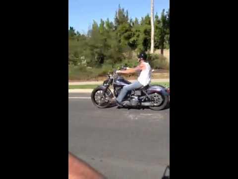 Ed Adams Riding Down Espola Rd