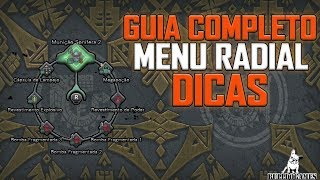 Monster Hunter World - GUIA DE COMO CONFIGURAR E USAR O MENU RADIAL - DICAS!