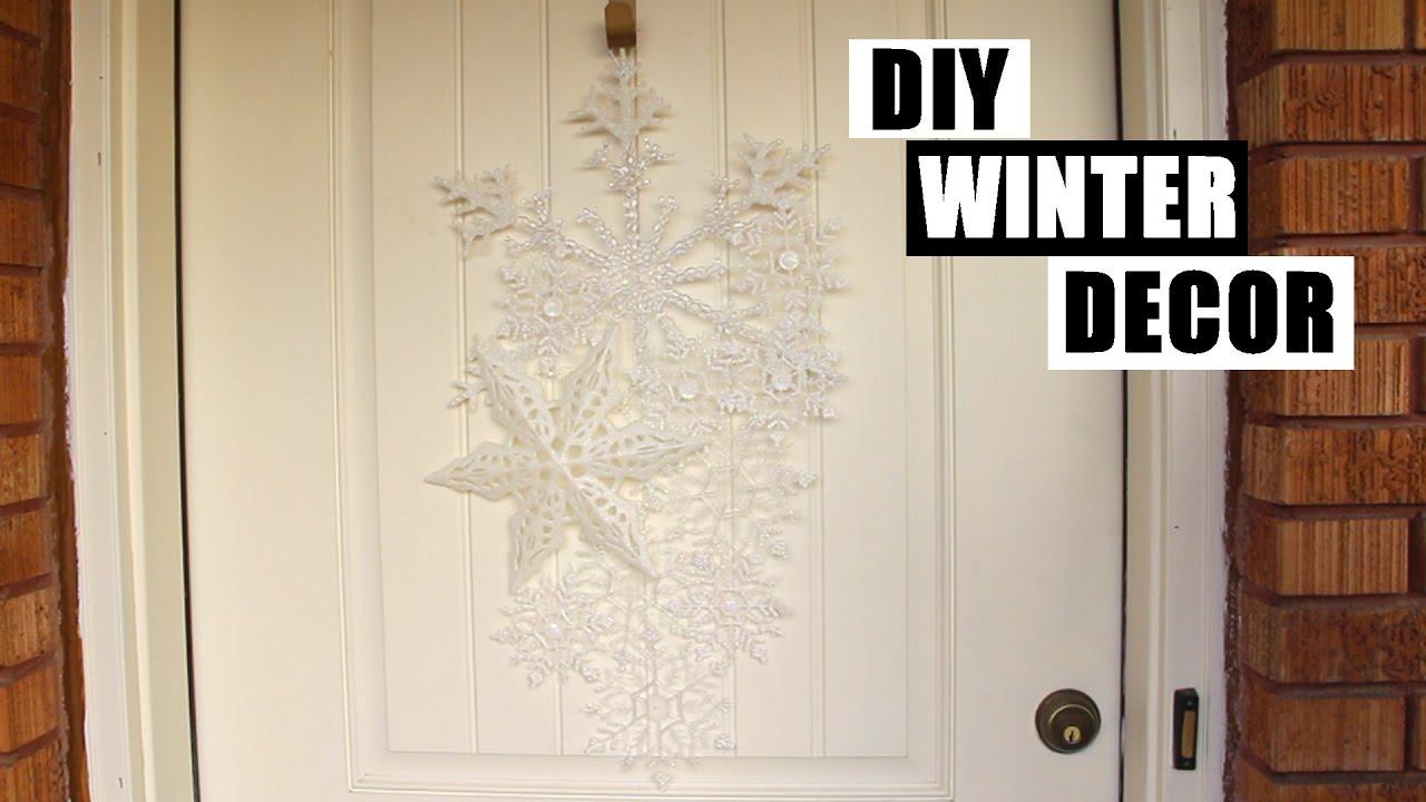 easy cheap diy front door winter decor tutorial how to. Black Bedroom Furniture Sets. Home Design Ideas