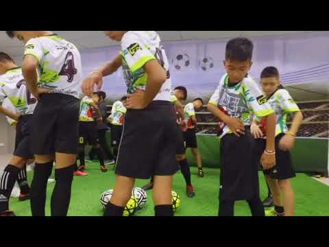 Thai Boys Play Soccer at Hospital With Rescuers