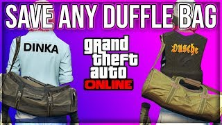 OBTAIN, TRANSFER AND SAVE DM DUFFLE BAGS (XBOX1/PS4) DIRECTOR MODE GLITCH GTA 5 ONLINE 1.45