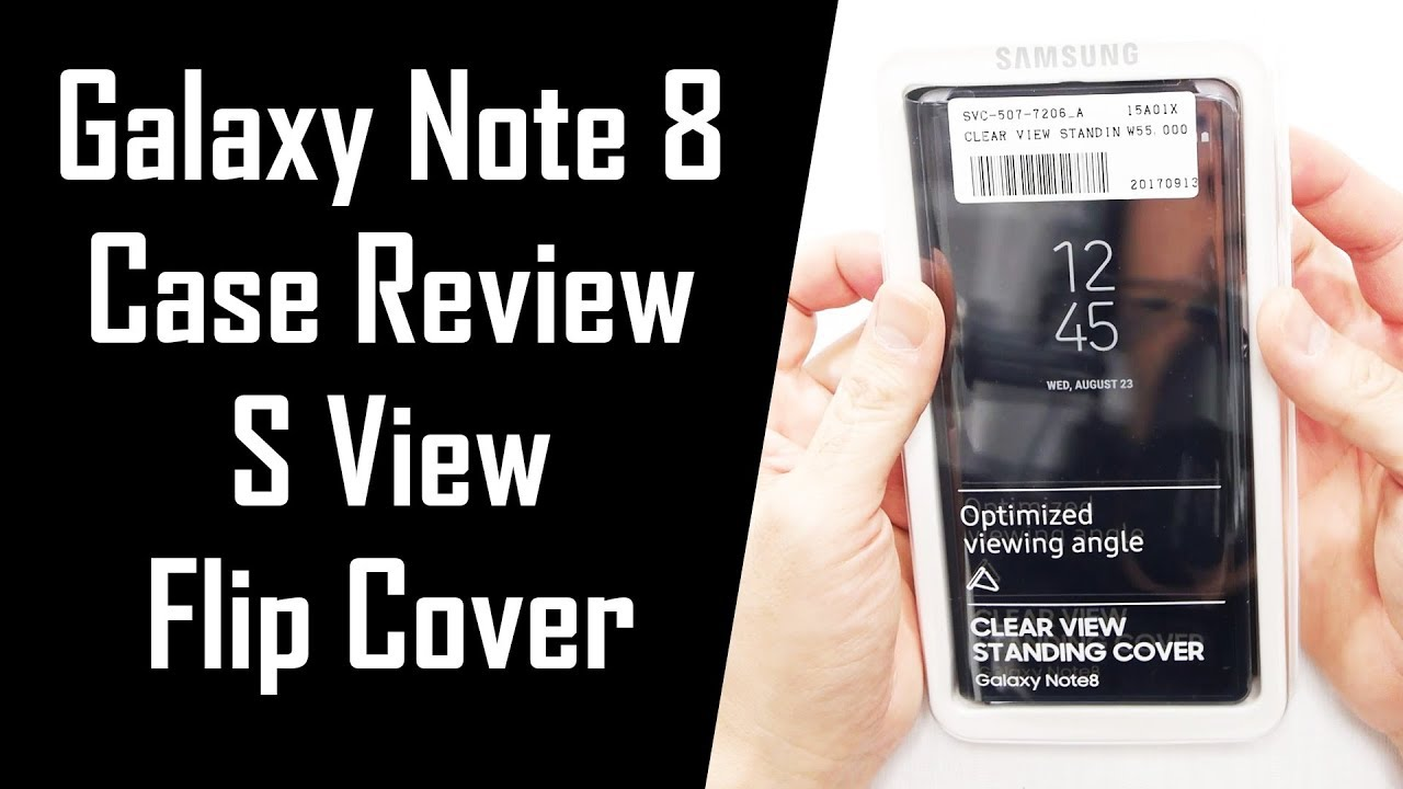 on sale 27a06 0d28b 300 Days of Note 8 Ep.2: S-View Flip Cover Review (Clear View Standing  Cover)
