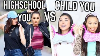 High School You VS Child You | Jeanine Amapola & MyLifeAsEva