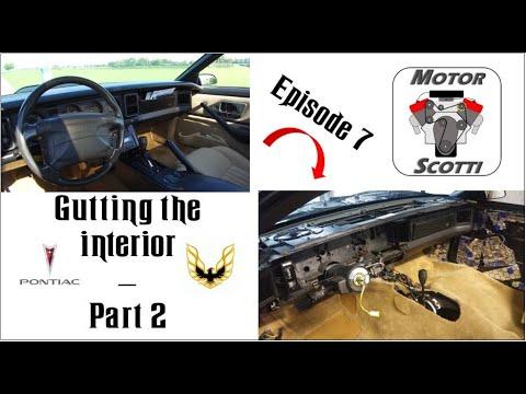 3rd Gen Firebird & Camaro - Gutting The Interior - Part 2