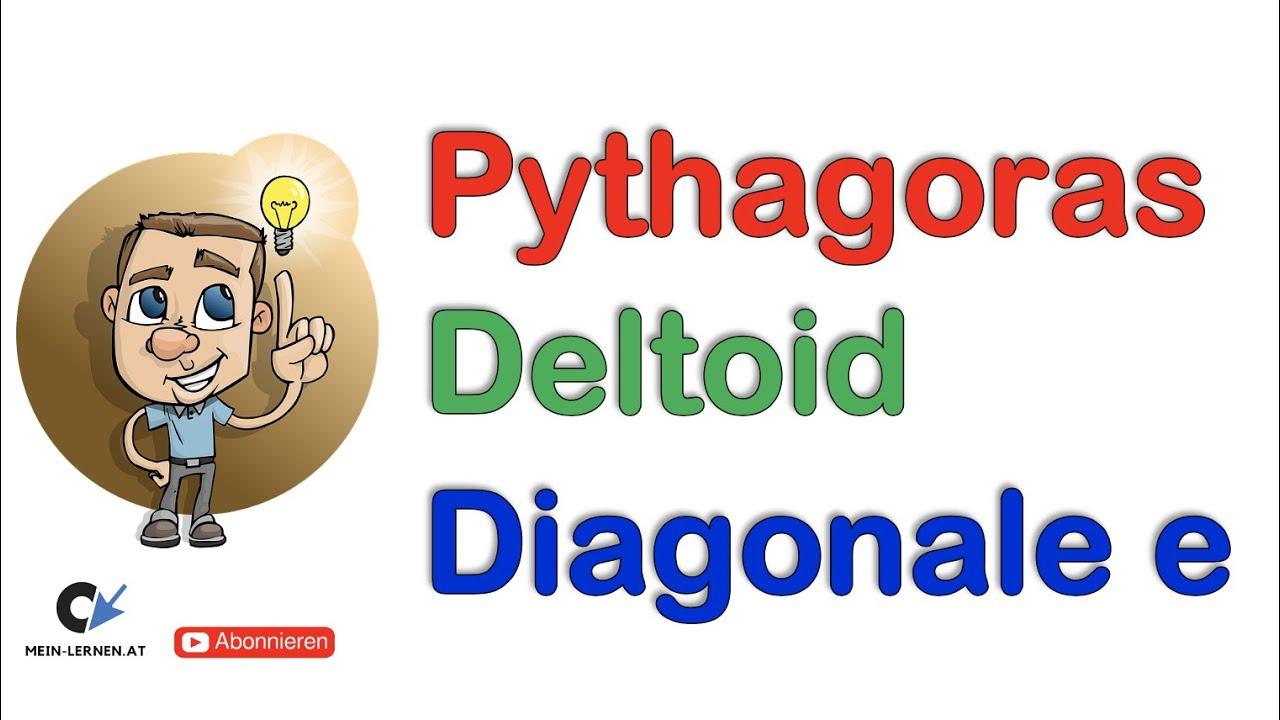 pythagoras deltoid diagonale e berechnen youtube. Black Bedroom Furniture Sets. Home Design Ideas