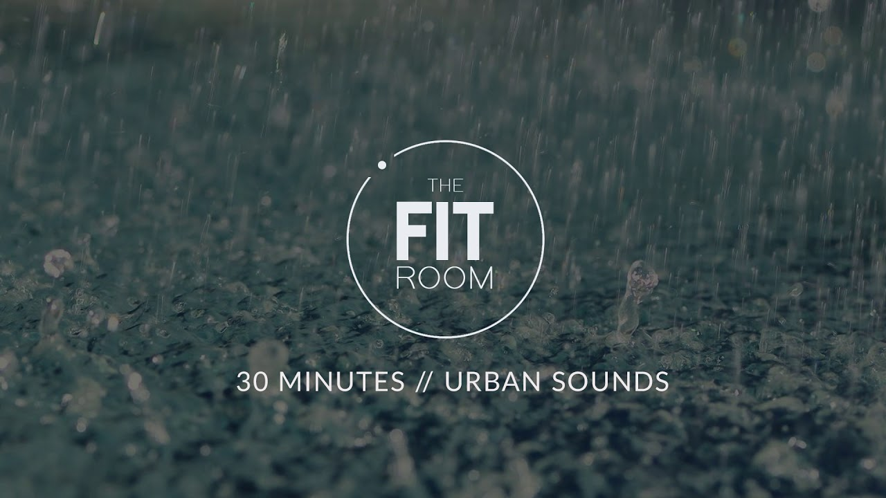 Light Rain & Thunder • 30 Minutes of gentle rain Sounds for Meditation,  Relaxation and Sleep