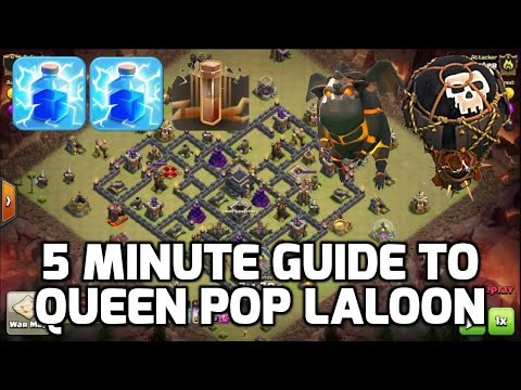 Clash of Clans: 5 MIN GUIDE TO QUEEN POP LALOON! - MUST KNOW ATTACK STRATEGY | Mister Clash Gaming