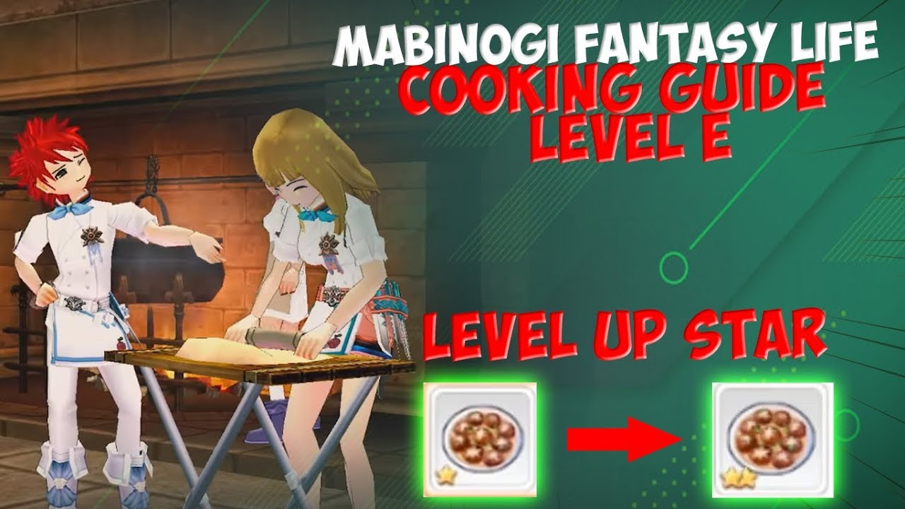 Resep Makanan Level E Mabinogi Fantasy Life Youtube