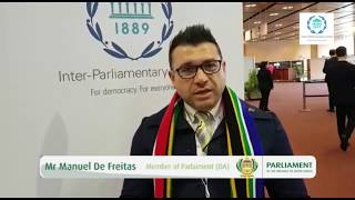 Mr Manuel De Freitas  at the 138th Assembly of the Inter-Parliamentary Union