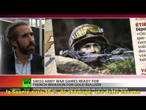RT. L'armée suisse se prépare à une invasion « saônienne » S/T