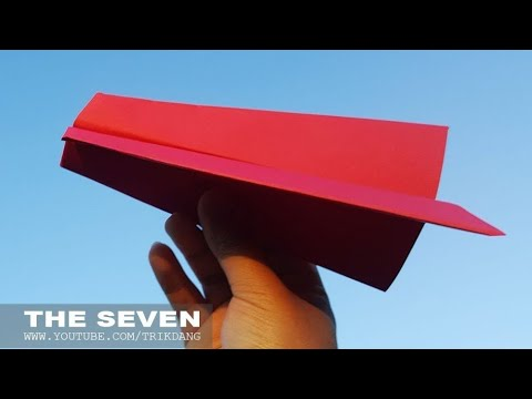EASY PAPER AIRPLANE for Kids - How to make a Paper Airplane that Flies | Seven