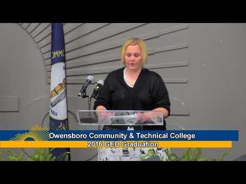 2016 Owensboro Community and Technical College GED Graduation