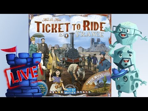 Ticket to Ride: Old West Map Expansion LIVE!!