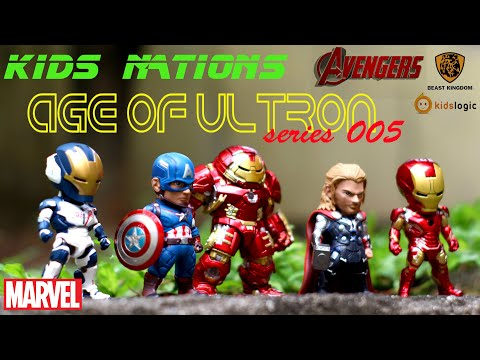 Kids Nations Series 005 Unboxing - Avengers Age of Ultron - Hulk Buster, Captain America, Thor