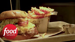 Bacon Mac 'N Cheese Burger | Food Network