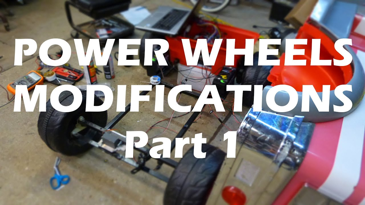 maxresdefault power wheels 24v upgrade power steering kidtrax part 1 youtube kid trax fire truck wiring diagram at webbmarketing.co