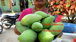 MOUTH Watering Fresh Mango Pickle Recipe Preperd by My Mummy in my Village | VILLAGE FOOD