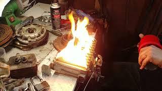 Моя новая газовая печка для алюминия