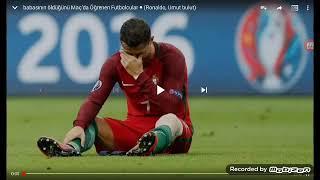 Maçta babasının öldüğünü öğrenen futbolcular