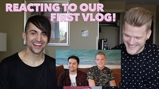 REACTING TO OUR FIRST VLOG!!