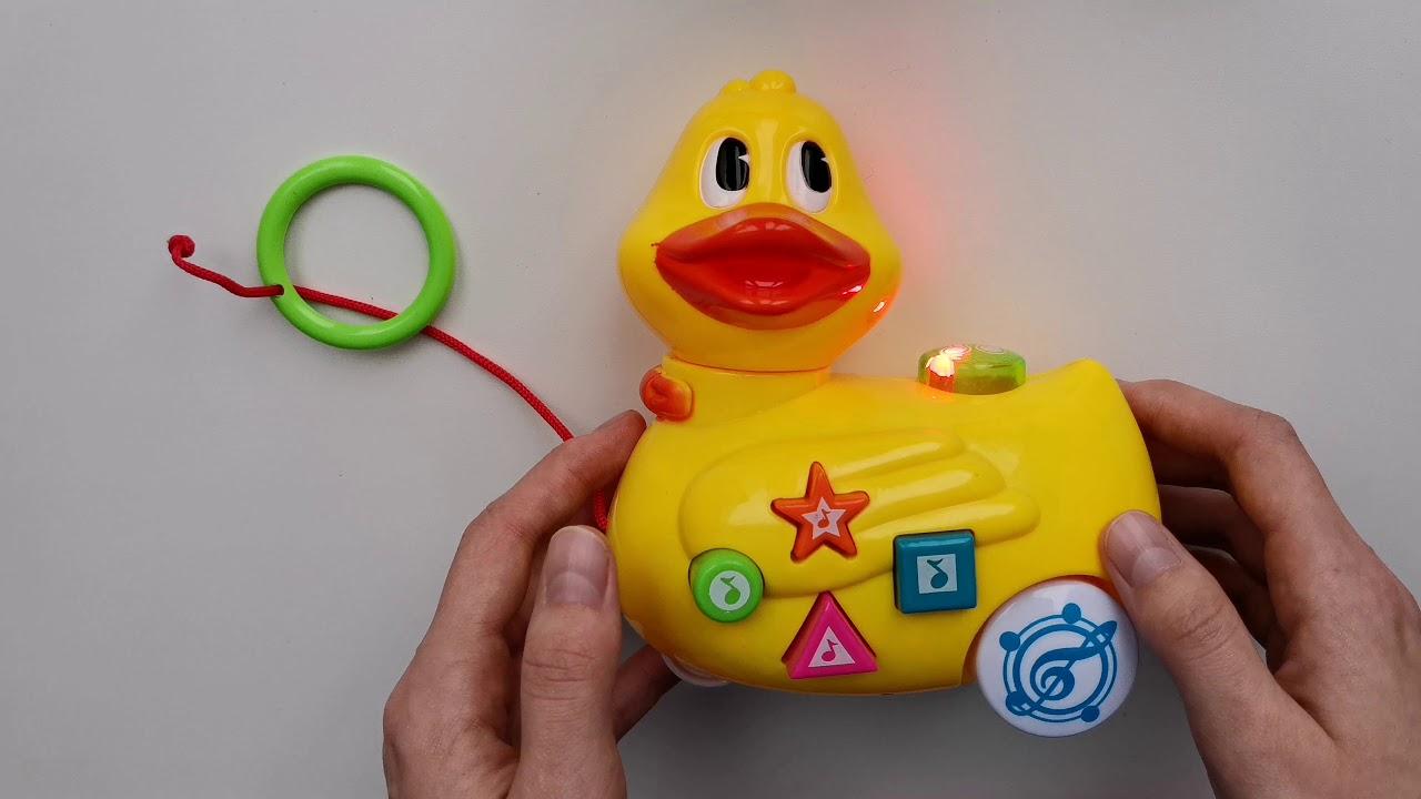 УМка каталка уточка развивающая игрушка для малышей - YouTube