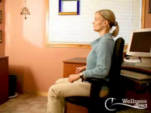 Correct Ergonomics of Sitting at a Computer Desk - Advice from Physiotherapist Christina Foch