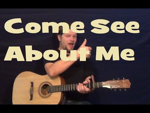 Come See About Me (The Supremes) Easy Strum Guitar Lesson How to Play Tutorial