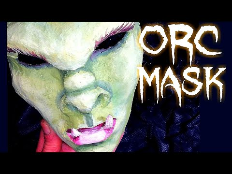 How to make a paper mache fitting ORC MASK! Tutorial