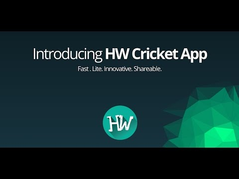 Fast cricket scores HW Cricket - Apps on Google Play