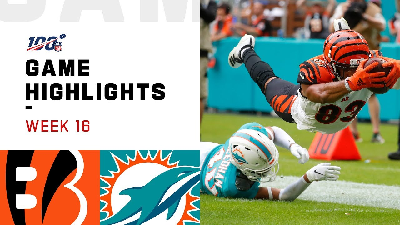NFL Week 16: Bengals vs. Dolphins