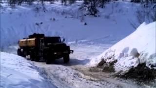 видео зимник Якутия. Дальнобой крайний Север