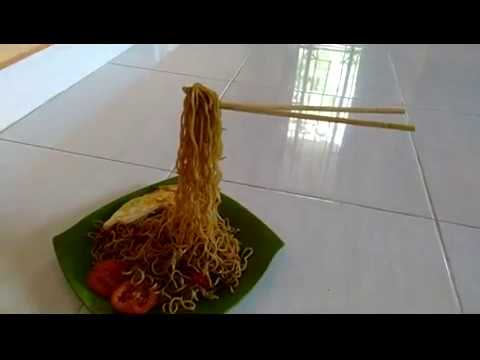 Cara Mudah Membuat Mie Terbang (Flying Noodles) Kekinian