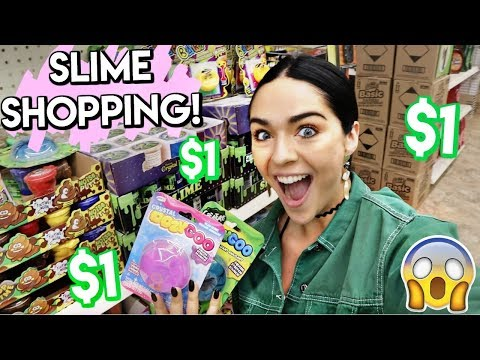 SLIME SUPPLIES SHOPPING AT THE DOLLAR STORE!! i only spent $60