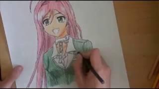 How to draw Moka Akashia from rosario+vampire