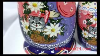 "Матрешка ""Кошка в лукошке"" авторская 5 кукол"
