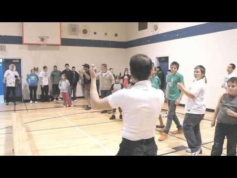 Life For Mile Movie - Actor Stephen Chang Kung Fu Teaching With Kids at Boston Bar