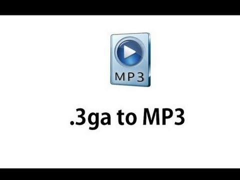 the best way to convert 3ga to mp3 without program