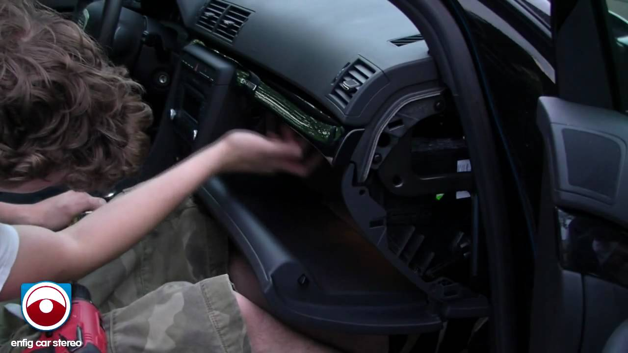 [TVPR_3874]  Audi A4 2007 & 2008 Glove Box Removal - YouTube   Remobe Audi A4 Fuse Box      YouTube