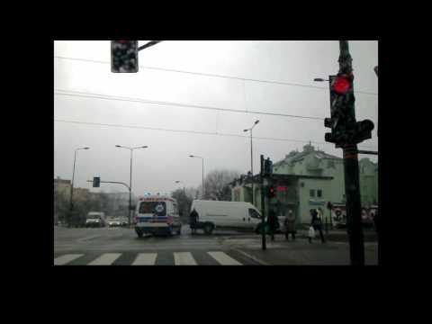 Rozbite Auta Ruczaj Ulica Kobierzyńska Wypadek Samochodowy 13.02.2017 Kraków
