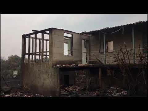 Paisaje desolador en Guillamil tras el paso de las llamas