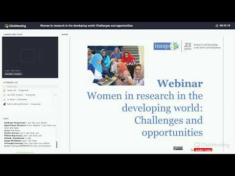 Webinar: Women in research in the developing world: Challenges and opportunities